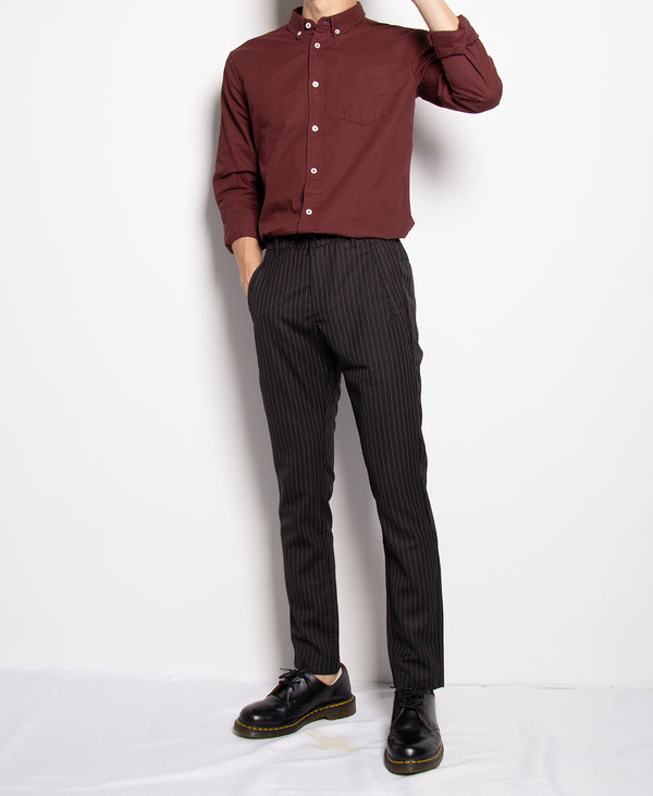 Men Long Slim Fit Pants - Black