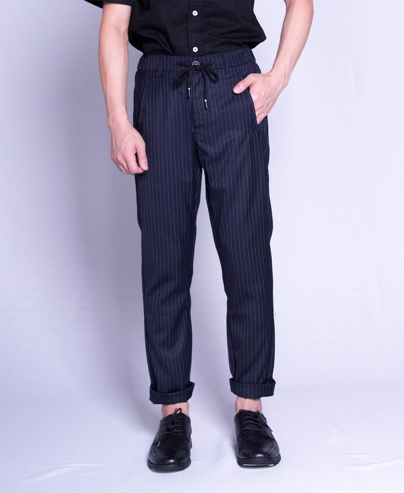 Men Long Slim Fit Pants - Navy