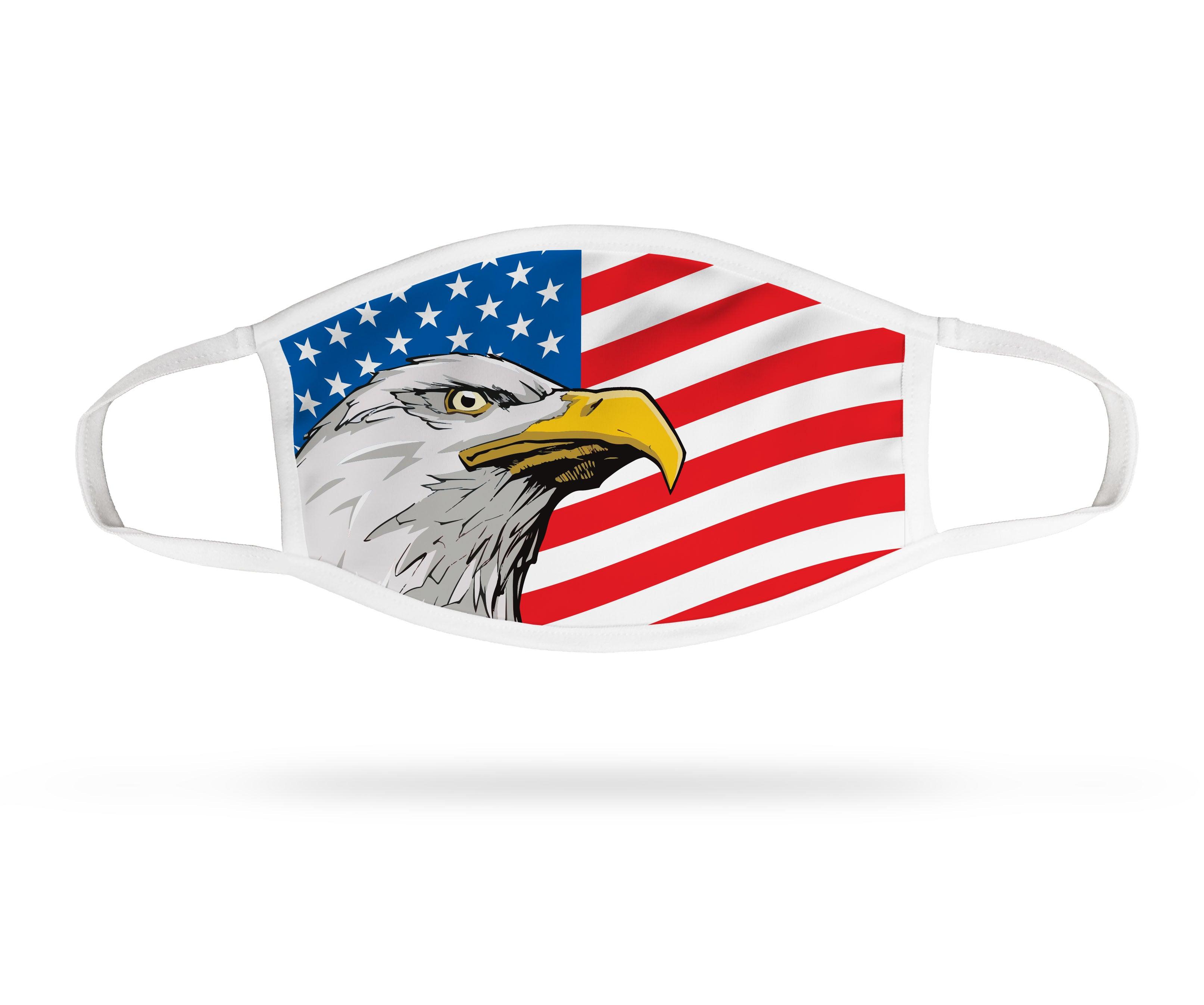 Face Mask - Eagle with Flag (4 pack)