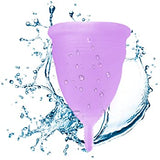 Set of 2 Menstrual Cups with Bag + FREE Sterilizer