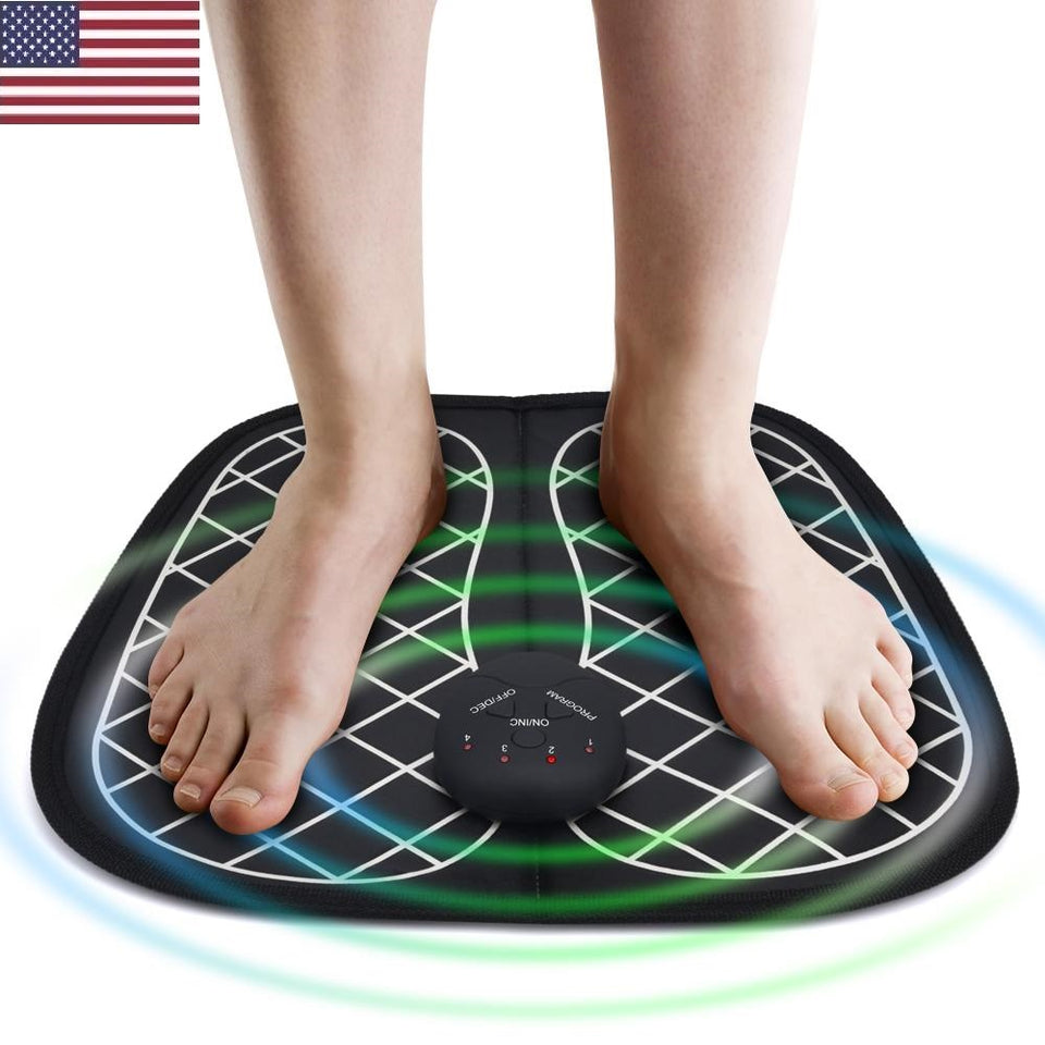 Electric EMS Foot Massager Stimulator - Feet Pain Relief & Relaxation