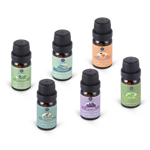 SET of 6 Bottles Pure Essential Oils 10ML