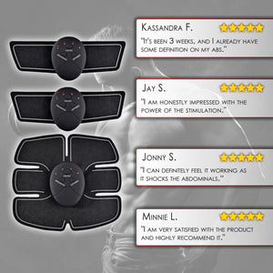 Ultimate Abs Muscle Stimulator Ab Toner Trainer Set for Abs and Arms