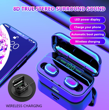 【 Free Shipping】2019 Newest TWS Wireless Earphone Bluetooth 5.0 LED Power Display 3500 mAh Power bank