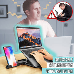 2 in 1 Adjustable Folding Laptop and Phone Cooling Table Stand