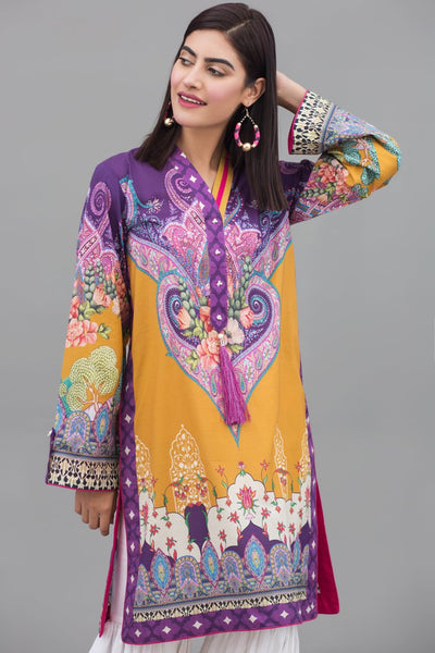 (205-KR-004) Paisley Affection - 1 pc PRET (Stitched) - Digital Printed Lawn Shirt - leftover.pk