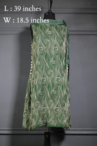 Green Embroidered Pure Chiffon Lawn (RG-PS-001) - Ready To Wear Kurta - leftover.pk