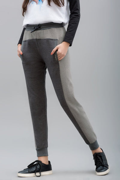 Double Shades Jogger Trouser - leftover.pk