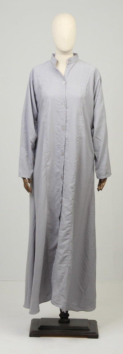 Grey Ready to Wear Abaya with Scarf - leftover.pk
