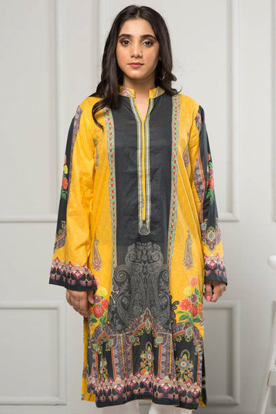 Unstitched Digital Printed Shirt-025-307 - leftover.pk
