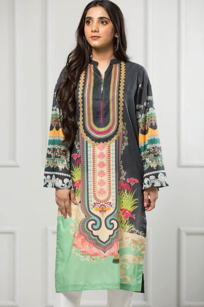 Unstitched Digital Printed Shirt-058-307 - leftover.pk