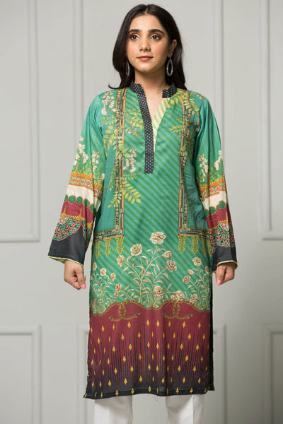 Unstitched Digital Printed Shirt-018-307 - leftover.pk