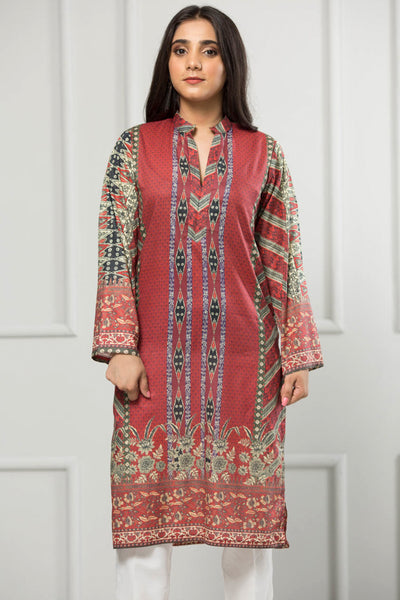 Unstitched Digital Printed Shirt-086-307 - leftover.pk