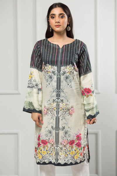 Unstitched Digital Printed Shirt-031-307 - leftover.pk