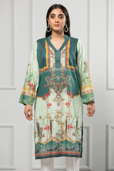 Unstitched Digital Printed Shirt-090-307 - leftover.pk