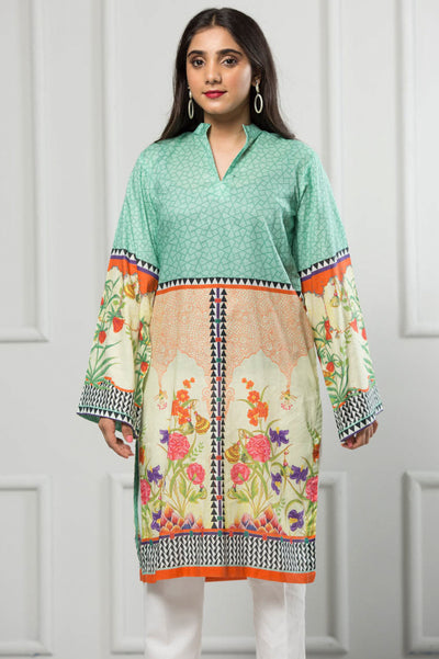 Unstitched Digital Printed Shirt-043-307 - leftover.pk
