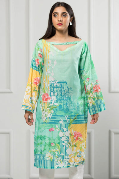 Unstitched Digital Printed Shirt-070-307 - leftover.pk