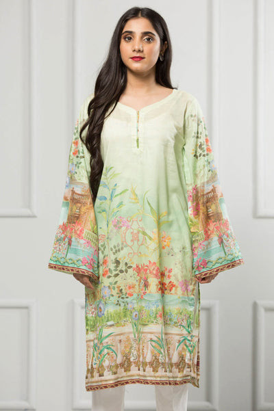 Unstitched Digital Printed Shirt-092-307 - leftover.pk