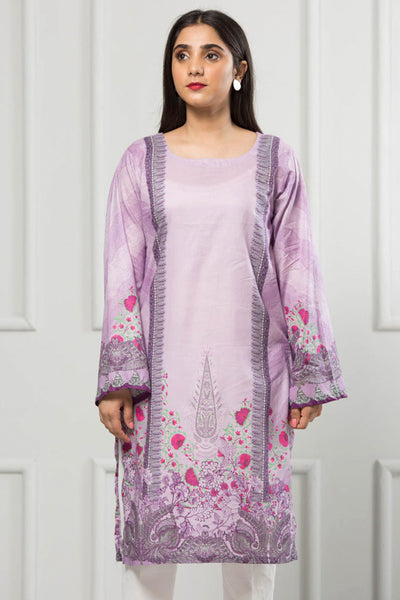 Unstitched Digital Printed Shirt-067-307 - leftover.pk