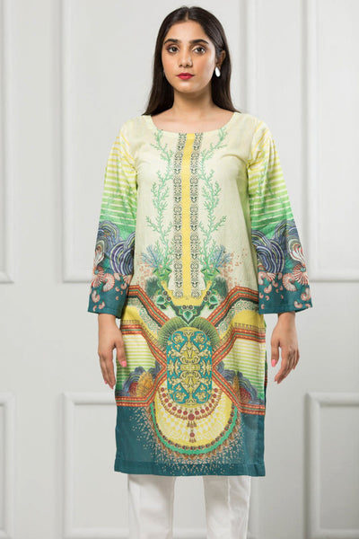 Unstitched Digital Printed Shirt-068-307 - leftover.pk