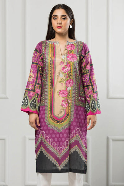 Unstitched Digital Printed Shirt-038-307 - leftover.pk
