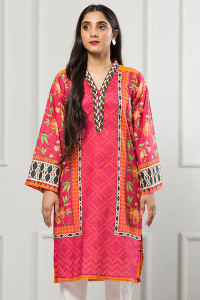 Unstitched Digital Printed Shirt-079-307 - leftover.pk