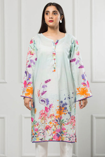 Unstitched Digital Printed Shirt-069-307 - leftover.pk