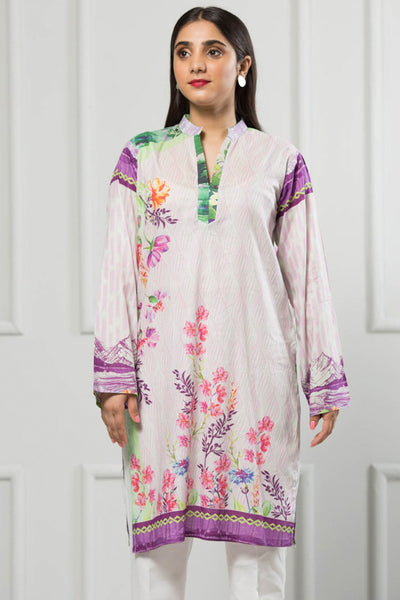 Unstitched Digital Printed Shirt-030-307 - leftover.pk