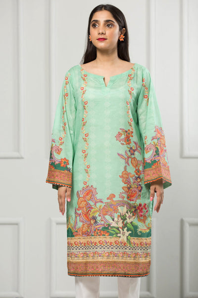 Unstitched Digital Printed Shirt-021-307 - leftover.pk