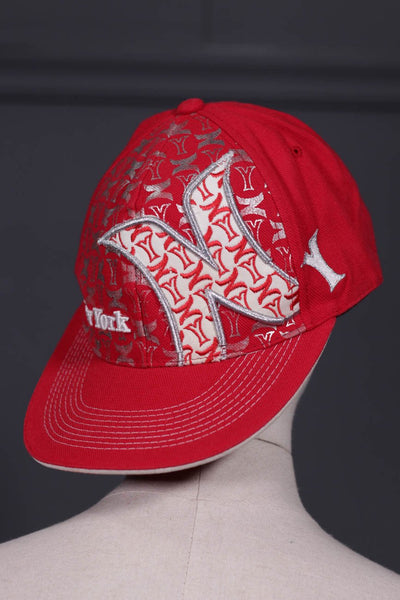 Men Red Cap NewYork-107 - leftover.pk