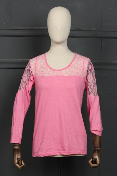 (D-02) Pink Sleep Wear Knit Fabric (126-Sh-18) - leftover.pk