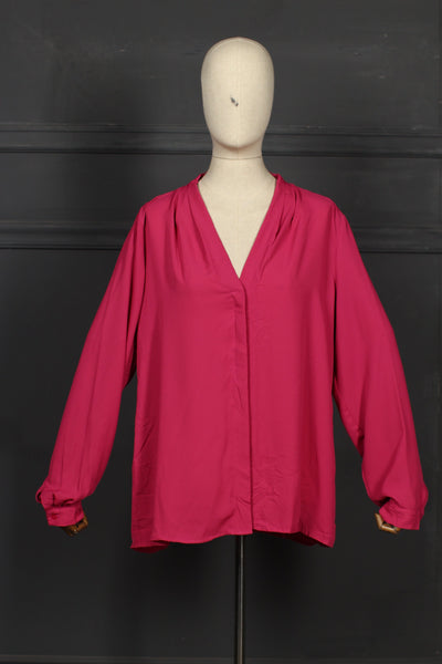 Dark Pink Fusion Top - 1208 - leftover.pk