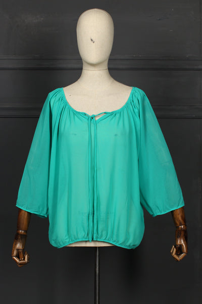 Light Green Fusion Top - 1208 - leftover.pk