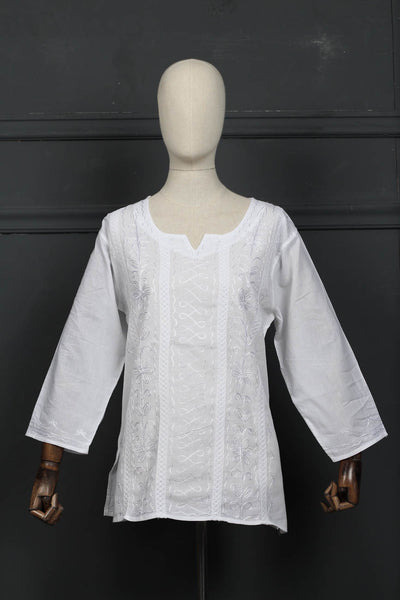 Stitched Lawn Embroidered Kurta (126-SK-00) - leftover.pk