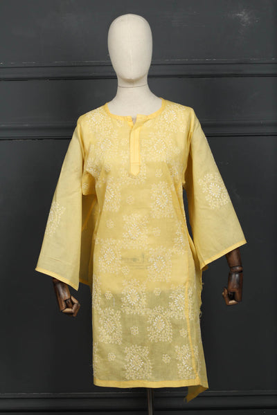 Semi Stitched Lawn Embroidered Kurta (126-SSK-01) - leftover.pk