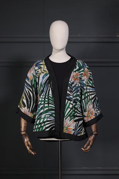 Front Open Printed Fusion Top - leftover.pk
