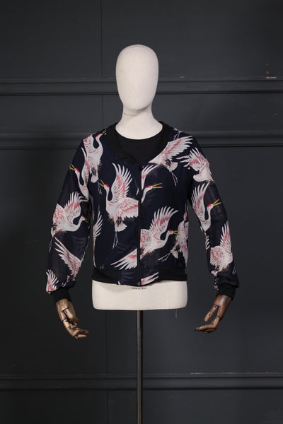 Front Zipper Printed Fusion Top - leftover.pk