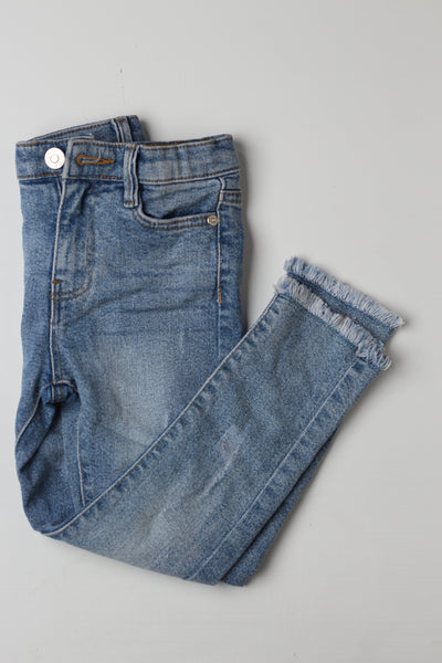 Blue Denim Girls Pants - leftover.pk
