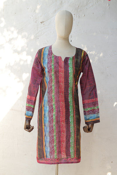(E03) Digital Printed Ready To Wear Kurta - (195-KR-021) - leftover.pk