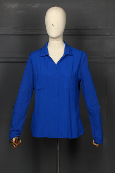Neel Blue Fusion Top - 1208 - leftover.pk