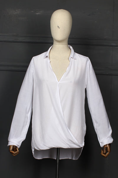 White Color Style Fusion Top - 1208 - leftover.pk