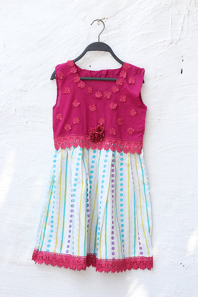 Kids Girl Frock-08 - leftover.pk