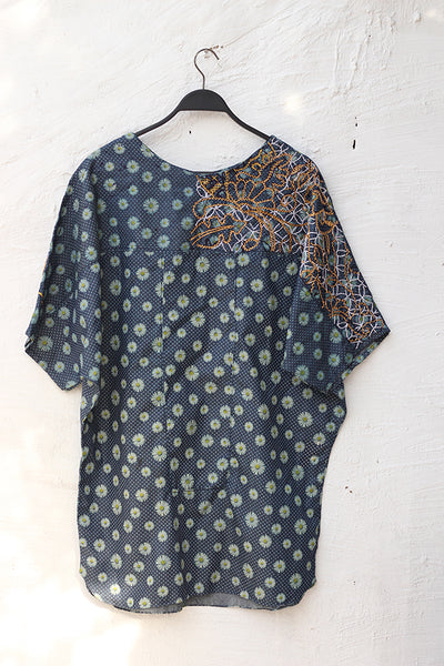 (A-03) Dandelion Chambray - Artisan Crafted Top - Cotton (905-SP-015) - leftover.pk