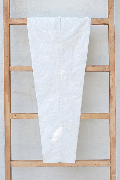 Fully Embroidered Cotton Trousers (225-TR-002) - leftover.pk