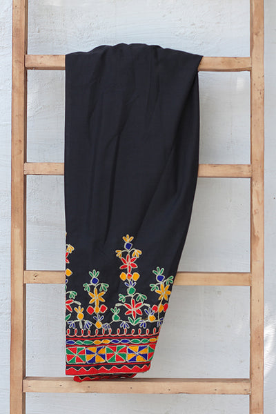 Traditional Embroidered Cotton Shalwar (225-TR-030) - leftover.pk