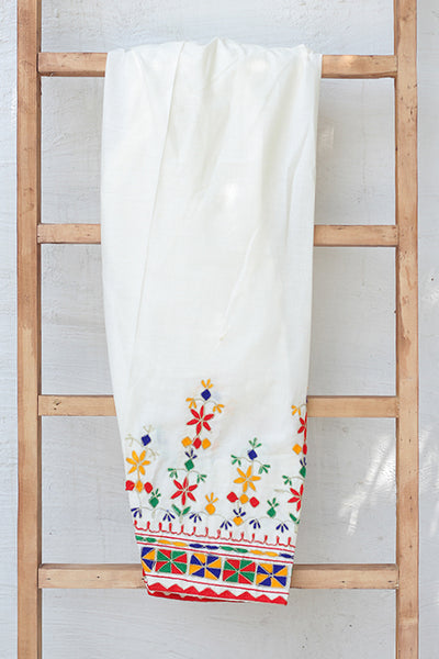 Traditional Embroidered Cotton Shalwar (225-TR-031) - leftover.pk