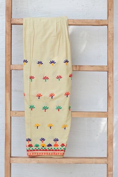 Traditional Embroidered Cotton Shalwar (225-TR-026) - leftover.pk