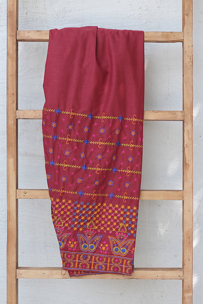 Traditional Embroidered Cotton Shalwar (225-TR-027) - leftover.pk