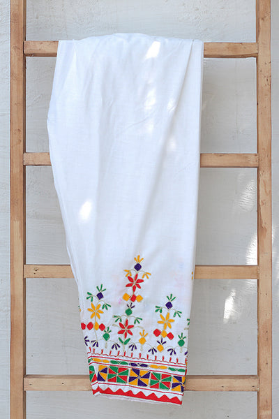 Traditional Embroidered Cotton Shalwar (225-TR-029) - leftover.pk