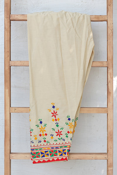 Traditional Embroidered Cotton Shalwar (225-TR-025) - leftover.pk